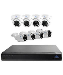 Montavue 16 Channel NVR Security Camera System w/ 8 4MP Bull