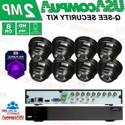 New Q-See 8CH Dome 1080p Analog DVR  Security Cameras System