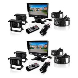 Pyle Weatherproof Rearview Backup Camera System for Trucks,
