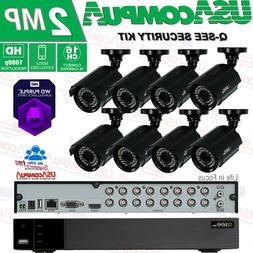 Q-See 16 Ch 16-Channel 8-Camera 1080p Security System Kit wi