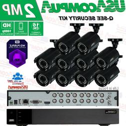 Q-See Security System 16 Channel  10 Camera Kit  1080p 2TB H