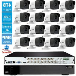 Q-See 5MP 16 Channel 16 Cameras KIT 2.8mm hikvision  4TB DVR