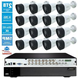 Q-See Security Camera System 16 Cameras KIT 5MP 2TB  4K UHD