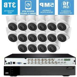 Q-See  Security System CCTV 16 Cameras KIT 5MP 2.8mm hikvisi