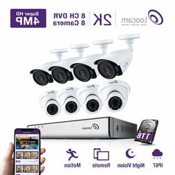 Loocam 2K 4.0MP 8Channel Video Security System -Eight 4.0-Me