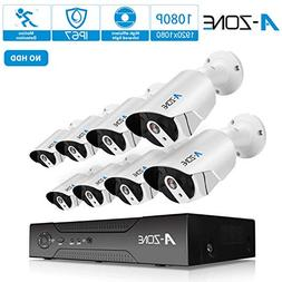 Security Camera System, A-ZONE Security 1080p 8 Channel PoE