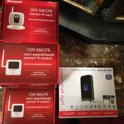 Honeywell security system with 6 cameras