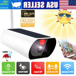 Solar Powered Security Camera IP Wifi Wireless Rechargeable