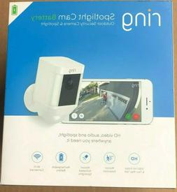 Ring -Spotlight Cam Wire-free Battery HD Security Camera,Two