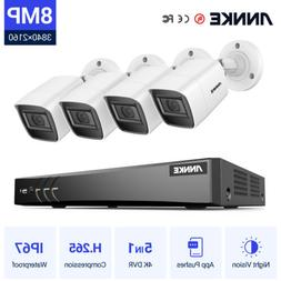 ANNKE Ultra HD 4K 8CH DVR Outdoor 8MP Video CCTV Security IR