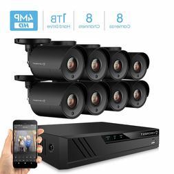 Amcrest UltraHD 4MP 8CH Home Security Camera System with 8 x