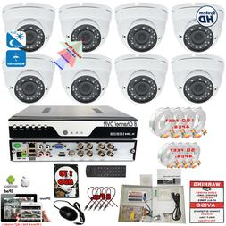 16 Channel w/ 16 pcs HD Day Night Vision In/ Outdoor CCTV Se