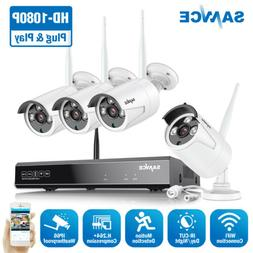 SANNCE Wireless 8CH 1080P NVR 2MP WIFI Outdoor Security Came