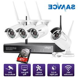 SANNCE Wireless 4CH Security System 1080P HD NVR 4x 1080P IR