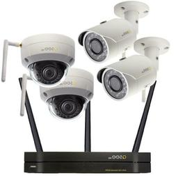Wireless Home Security Camera System 2 Bullet And 2 Dome 3MP
