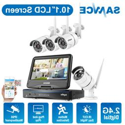 SANNCE Wireless IP Security Camera System 1080P 4CH NVR 10.1