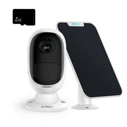 wireless security ip camera rechargeable battery solar